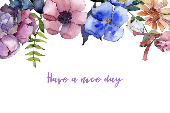 Print on Demand: Bouquet of Summer Flowers Intrigue Watercolor Graphic Illustrations By MyStocks - Image 9