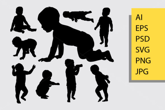 Download Free Baby Silhouette Graphic By Cove703 Creative Fabrica SVG Cut Files