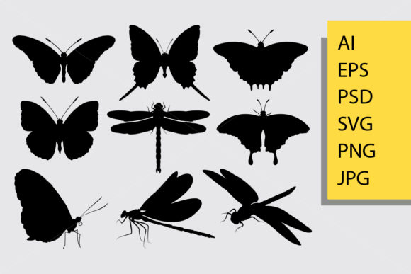 Butterfly Animal Silhouette Graphic Illustrations By Cove703