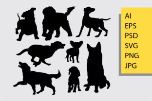 Dog Pet Animal Silhouette Graphic By Cove703