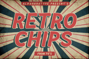 Retrochips Display Font By almarkhatype