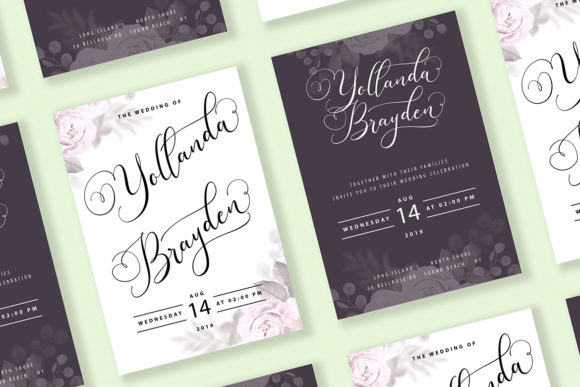 Print on Demand: Sugarberry Script & Handwritten Font By Vunira - Image 3
