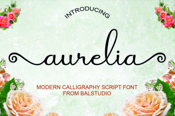 Print on Demand: Aurelia Script & Handwritten Font By Bal Studio