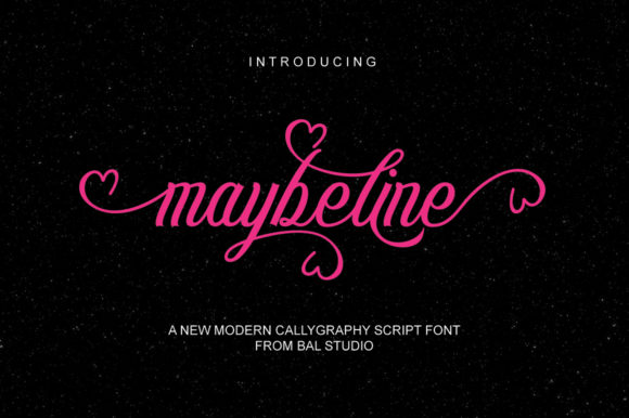 Print on Demand: Maybeline Script & Handwritten Font By Bal Studio - Image 1