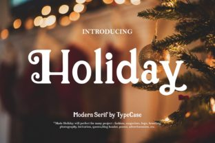 Holiday Serif Font By aldiwangsadipa