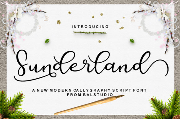 Print on Demand: Sunderland Script & Handwritten Font By Bal Studio