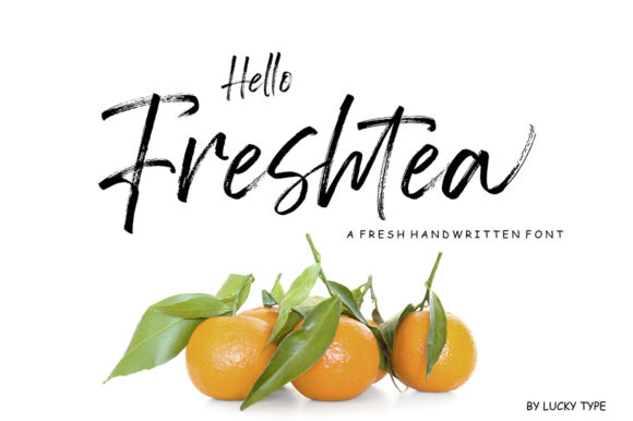 Print on Demand: Hello Freshtea Manuscrita Fuente Por luckytype.font