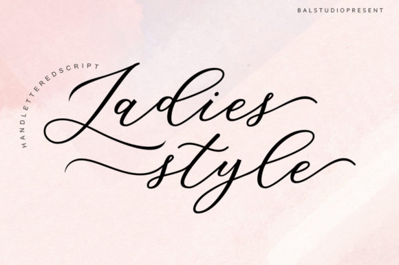 Print on Demand: Ladies Style Script & Handwritten Font By Bal Studio