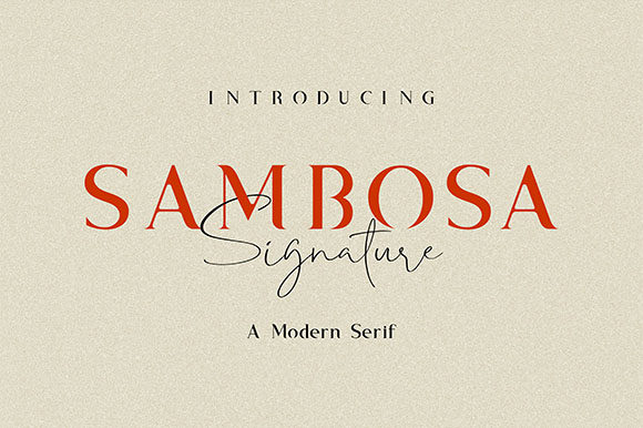 Print on Demand: Sambosa Serif Font By Hanzel Studio