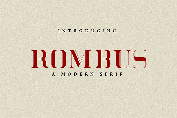 Print on Demand: Rombus Serif Font By Hanzel Studio - Image 1