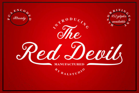The Red Devil Manuscrita Fuente Por Bal Studio