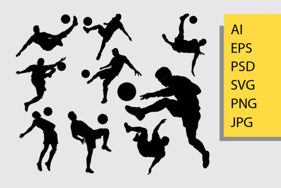 Male Soccer Sport Silhouette Graphic Illustrations By Cove703