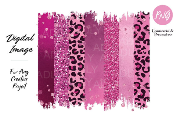 Pink Brush Sublimation,rose Gold Leopard Graphic By adlydigital