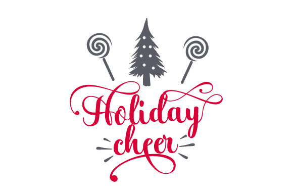 Download Free Holiday Cheer Svg Cut File By Creative Fabrica Crafts Creative for Cricut Explore, Silhouette and other cutting machines.