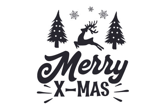 Download Free Merry X Mas Svg Cut File By Creative Fabrica Crafts Creative for Cricut Explore, Silhouette and other cutting machines.