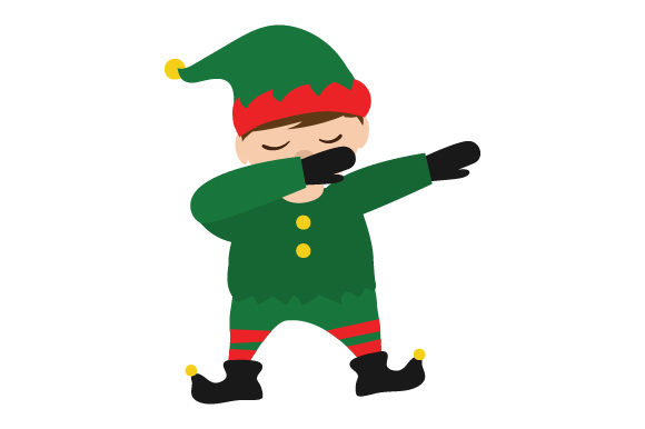 Dabbing Elf Craft Design Por Creative Fabrica Crafts