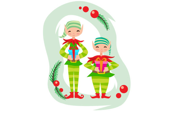 Download Free Elves Holding Presents Svg Cut File By Creative Fabrica Crafts for Cricut Explore, Silhouette and other cutting machines.