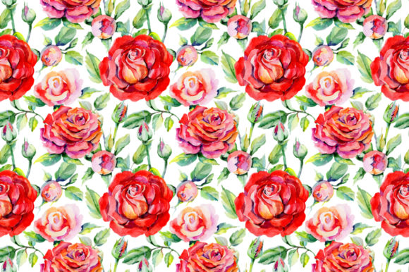 Print on Demand: Roses Red PNG Watercolor Graphic Illustrations By MyStocks - Image 4
