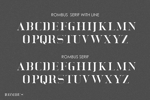 Print on Demand: Rombus Serif Font By Hanzel Studio - Image 4