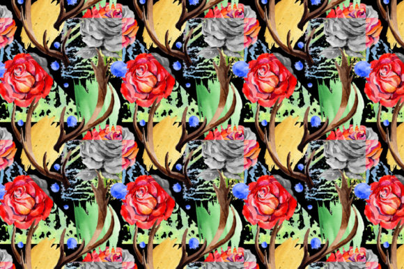 Print on Demand: Roses Red PNG Watercolor Graphic Illustrations By MyStocks - Image 5