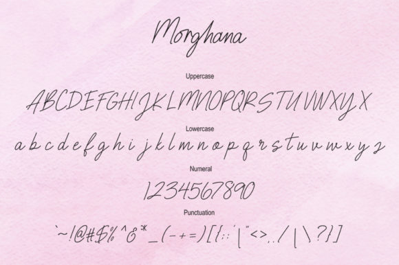 Print on Demand: Morghana Script & Handwritten Font By Bal Studio - Image 5