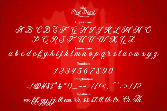 Print on Demand: The Red Devil Script & Handwritten Font By Bal Studio - Image 6