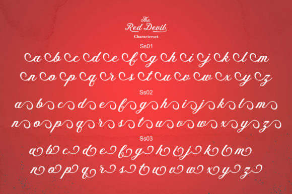 Print on Demand: The Red Devil Script & Handwritten Font By Bal Studio - Image 7