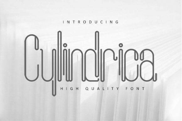 Print on Demand: Cylindrica Sans Serif Font By dataibayt - Image 1