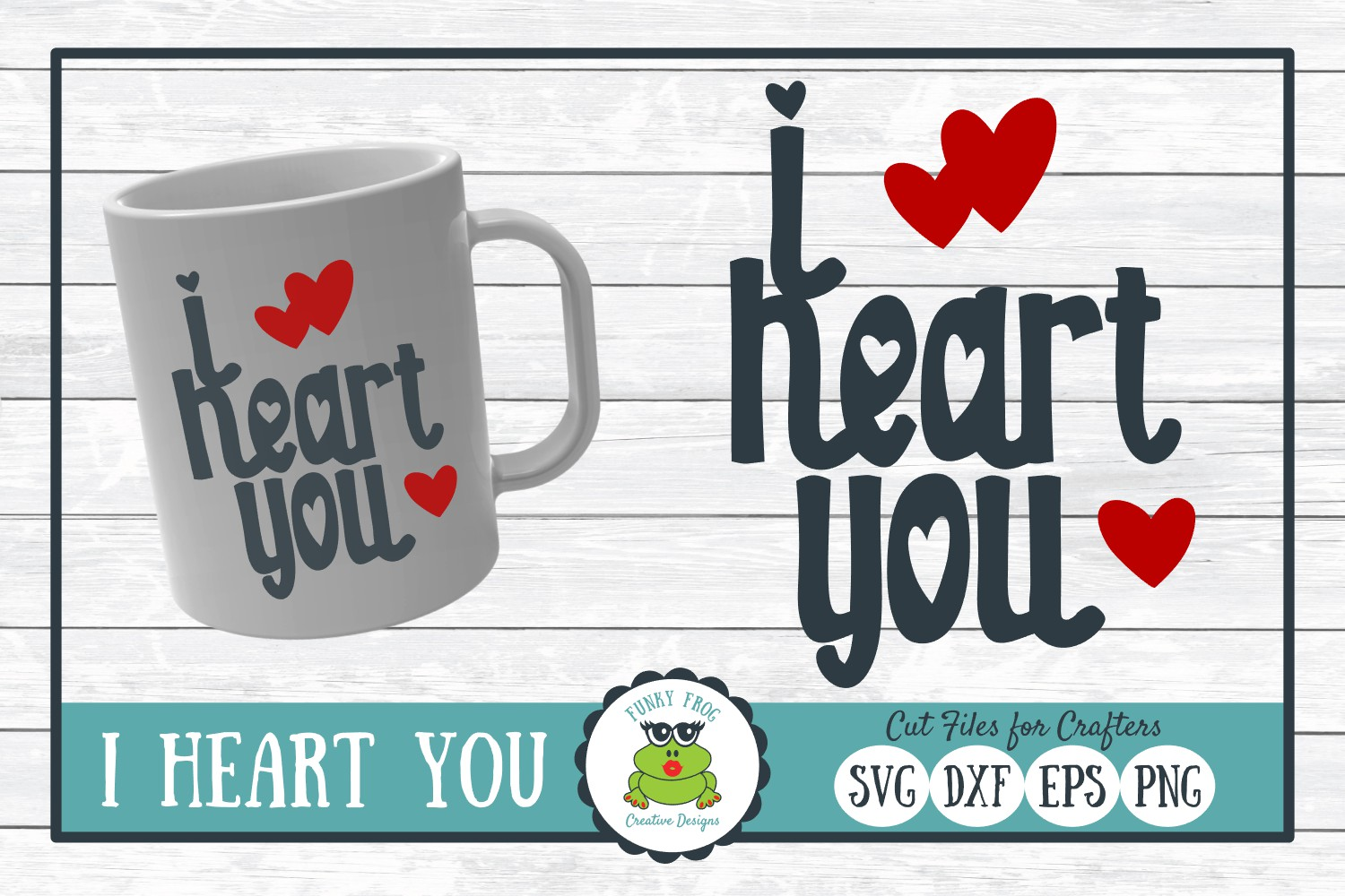 Download Free I Heart You Graphic By Funkyfrogcreativedesigns Creative Fabrica for Cricut Explore, Silhouette and other cutting machines.