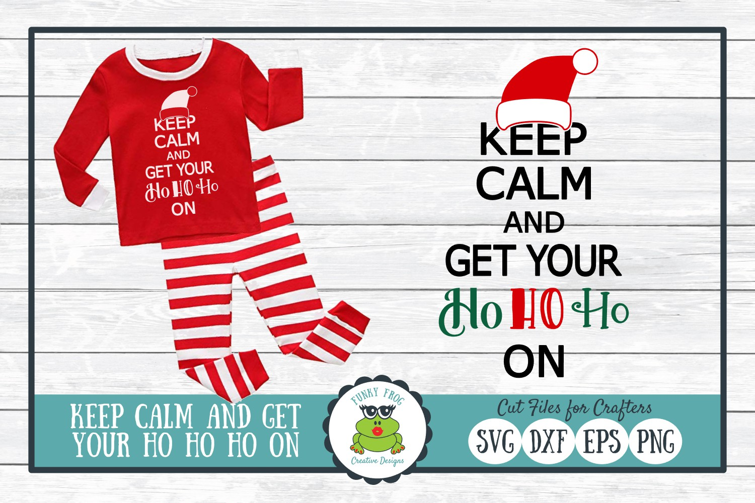 Download Free Keep Calm And Get Your Ho Ho Ho On Grafico Por for Cricut Explore, Silhouette and other cutting machines.
