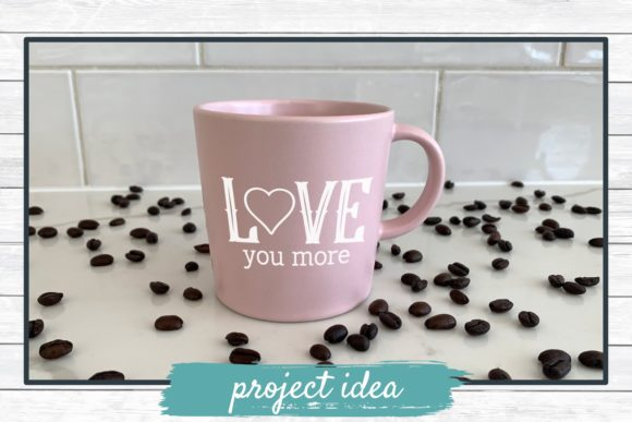 Download Free Love You More Graphic By Funkyfrogcreativedesigns Creative Fabrica for Cricut Explore, Silhouette and other cutting machines.