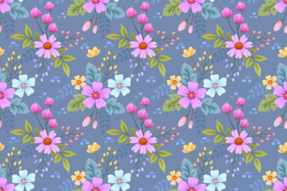 Flower Seamless Pattern. Graphic Patterns By ranger262