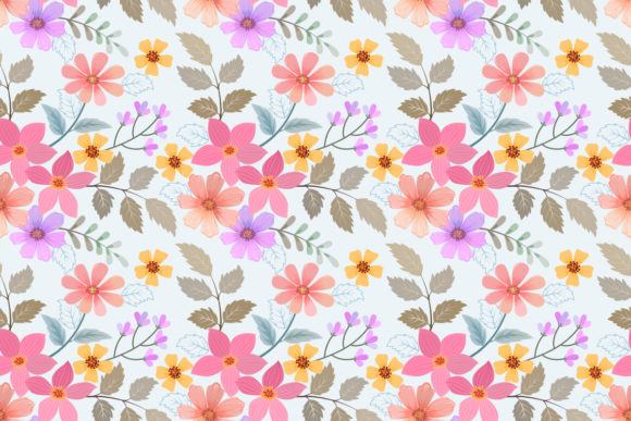 Flowers Seamless Pattern. Graphic Patterns By ranger262