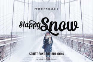 Happy Snow Script & Handwritten Font By VNM Creative Studio