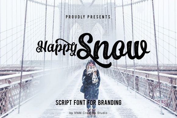 Happy Snow Manuscrita Fuente Por VNM Creative Studio