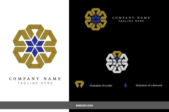 Print on Demand: Geometric Illustration Logo Design Graphic Logos By InDhika