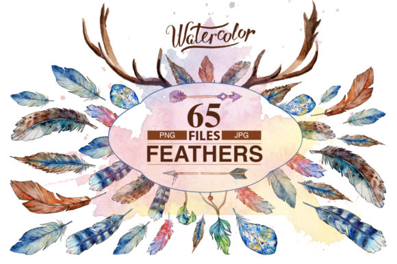 Print on Demand: Feather PNG Watercolor Bird Set Graphic Illustrations By MyStocks