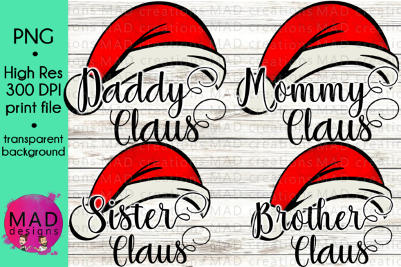 Mommy Daddy Brother Sister Claus Bundle Graphic Crafts By maddesigns718