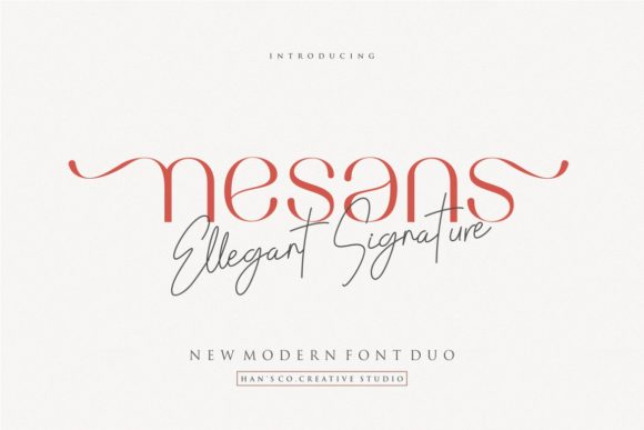 Print on Demand: Nesans Sans Serif Font By HansCo
