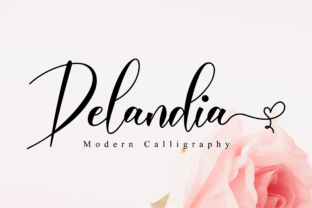 Print on Demand: Delandia Script & Handwritten Font By NissaStudio