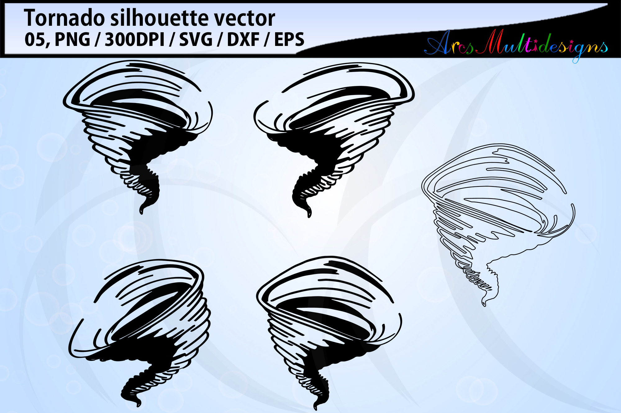 Download Free Tornado Silhouette Graphic By Arcs Multidesigns Creative Fabrica for Cricut Explore, Silhouette and other cutting machines.