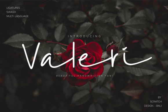 Print on Demand: Valeri Script & Handwritten Font By Scratch Design