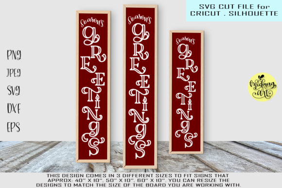 Seasons Greetings Sign Graphic By MidmagArt