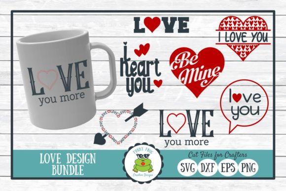 Love Design Bundle Graphic Crafts By funkyfrogcreativedesigns
