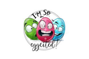 Download Free I M So Eggcited Sublimation Kitchen Graphic By Cre8tivedezinez for Cricut Explore, Silhouette and other cutting machines.