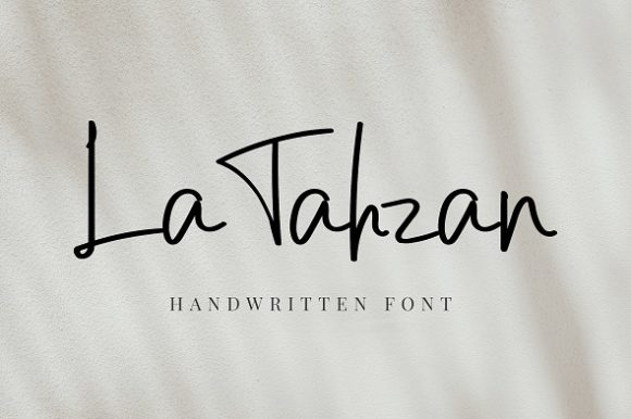 Download Free Latahzan Font By Agamous Creative Fabrica for Cricut Explore, Silhouette and other cutting machines.