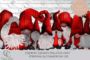 Christmas Tomte Gnomes Graphic By CC Paper Studio