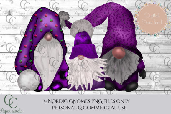 Print on Demand: Halloween Tomte Gnomes Graphic Illustrations By CC Paper Studio - Image 3