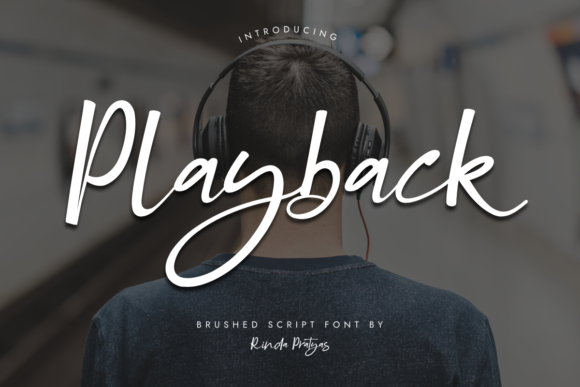 Print on Demand: Playback Script & Handwritten Font By Rinda Pratyas - Image 1