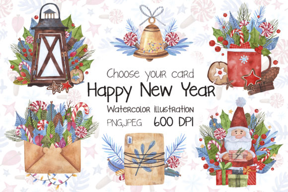 Download Free Happy New Year Graphic By Vasharisovasha Creative Fabrica for Cricut Explore, Silhouette and other cutting machines.